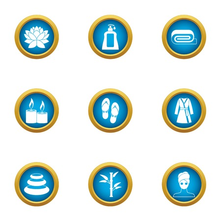 Loosen icons set. Flat set of 9 loosen vector icons for web isolated on white background Stock Illustratie