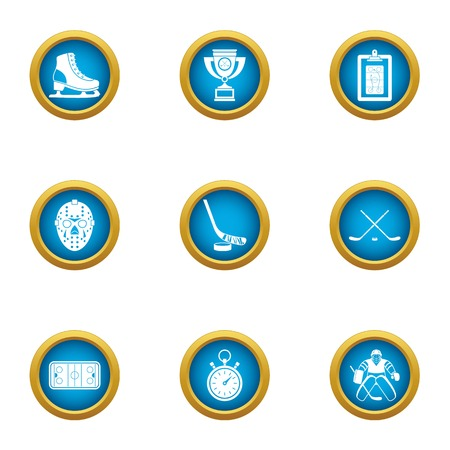 Training camp icons set. Flat set of 9 training camp vector icons for web isolated on white background