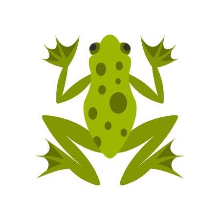 Frog icon in flat style isolated on white background illustration