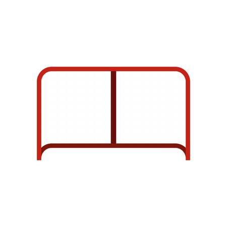 Hockey gate icon in flat style isolated on white background illustration Stock Photo