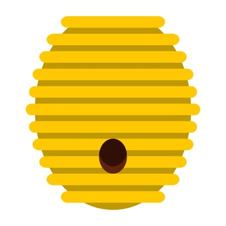Beehive icon in flat style isolated on white background illustration