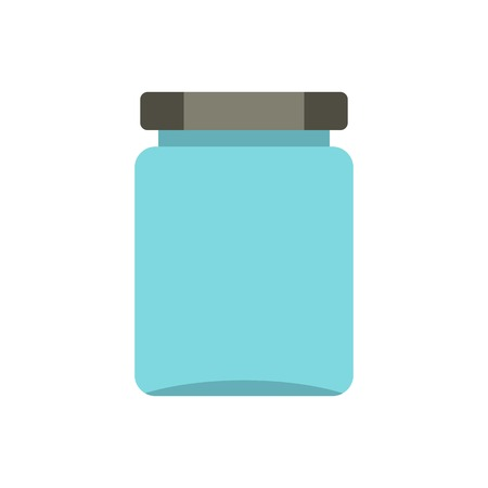 Jar icon in flat style isolated on white background illustration