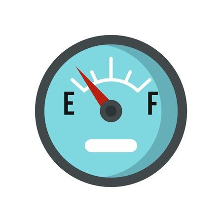 Automobile fuel sensor icon in flat style isolated on white background illustration