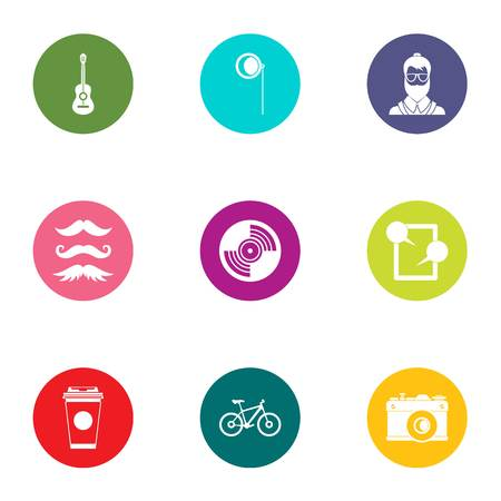 Modern nation icons set. Flat set of 9 modern nation vector icons for web isolated on white background