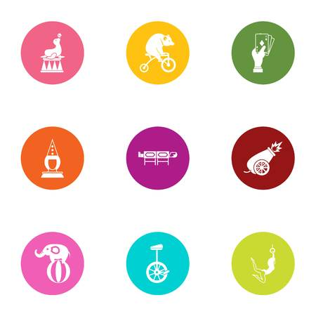 Taming icons set. Flat set of 9 taming vector icons for web isolated on white background