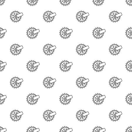 Mining cutting wheel pattern vector seamless