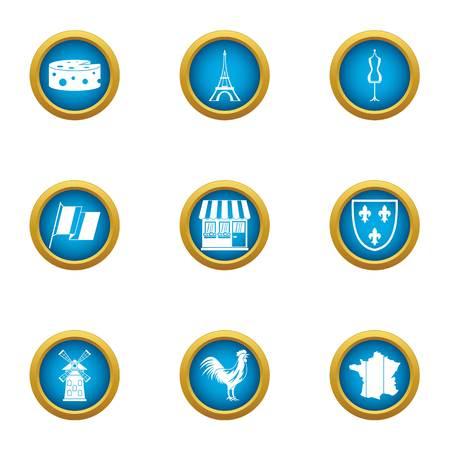 Fashion week icons set. Flat set of 9 fashion week vector icons for web isolated on white background