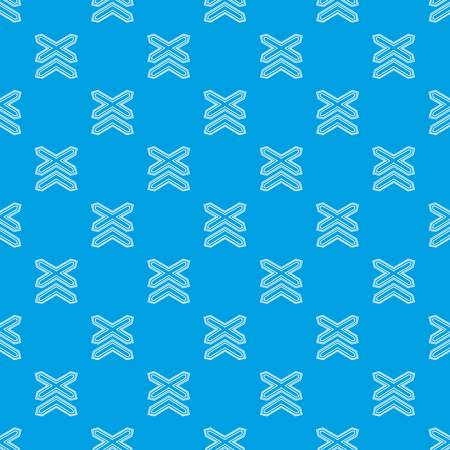 Two non barrier railways pattern vector seamless blue repeat for any use Stock Illustratie