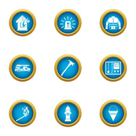 Lose your home icons set. Flat set of 9 lose your home vector icons for web isolated on white background