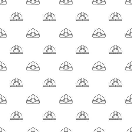 Mining helmet pattern vector seamless Illustration