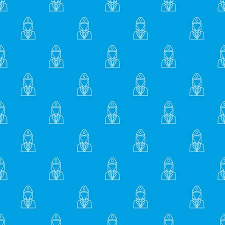 Train conductor pattern vector seamless blue repeat for any use