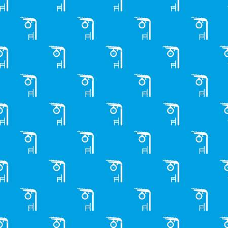 Platform railway pattern vector seamless blue repeat for any use