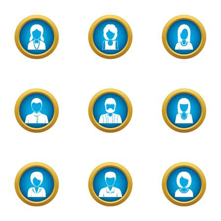 Resident icons set. Flat set of 9 resident vector icons for web isolated on white background