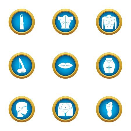 Toned body icons set. Flat set of 9 toned body vector icons for web isolated on white background