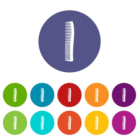 Small comb icon. Simple illustration of small comb vector icon for web