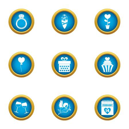 Frame of mind icons set. Flat set of 9 frame of mind vector icons for web isolated on white background