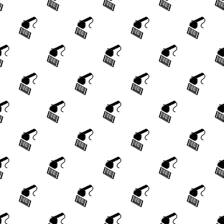 Market code scanner pattern vector seamless repeating for any web design Illustration