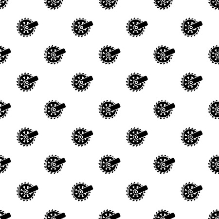 Mining cutting wheel pattern vector seamless repeating for any web design Vectores