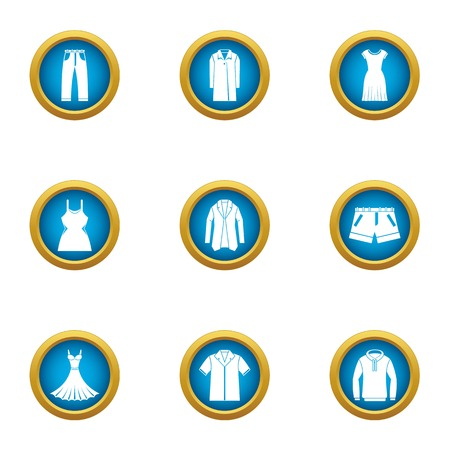 Robe icons set. Flat set of 9 robe vector icons for web isolated on white background