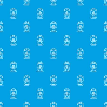 Train pattern vector seamless blue repeat for any use