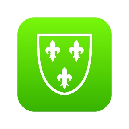 Crest icon digital green for any design isolated on white vector illustration