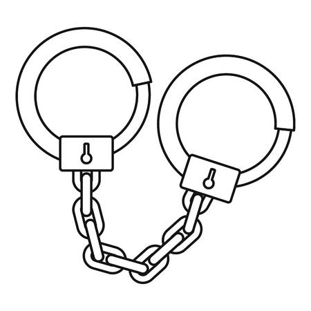 Handcuffs icon. Outline illustration of handcuffs icon for web