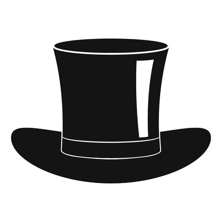 Silk hat icon. Simple illustration of silk hat icon for web
