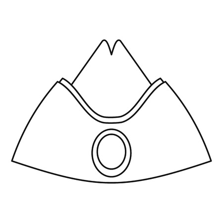 Forage cap icon. Outline illustration of forage cap icon for web