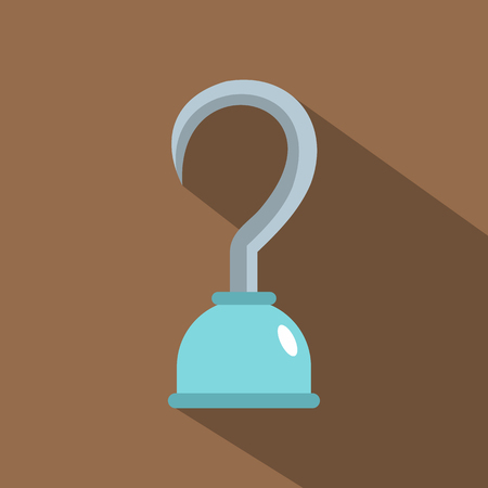 Hook icon. Flat illustration of hook icon for web