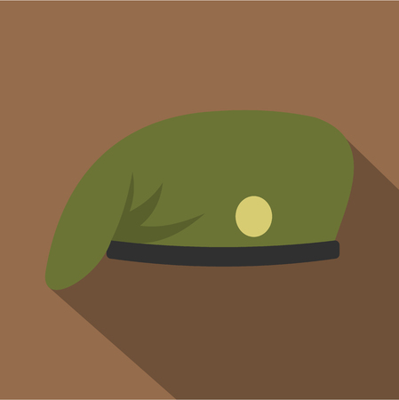 Military cap icon. Flat illustration of military cap icon for web