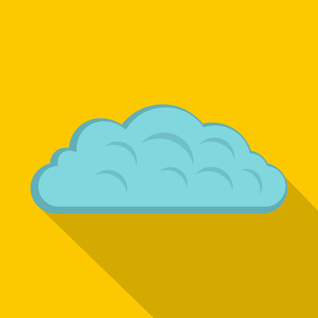 Autumn cloud icon. Flat illustration of autumn cloud icon for web