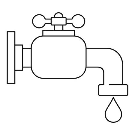 Water tap icon. Outline illustration of water tap icon for web Foto de archivo