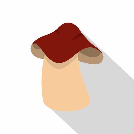 Boletus icon. Flat illustration of boletus icon for web Banco de Imagens