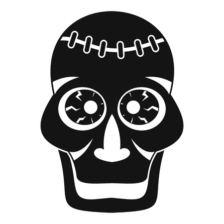 Skull icon, simple style