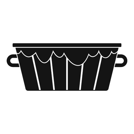 Wooden tub icon. Simple illustration of wooden tub icon for web