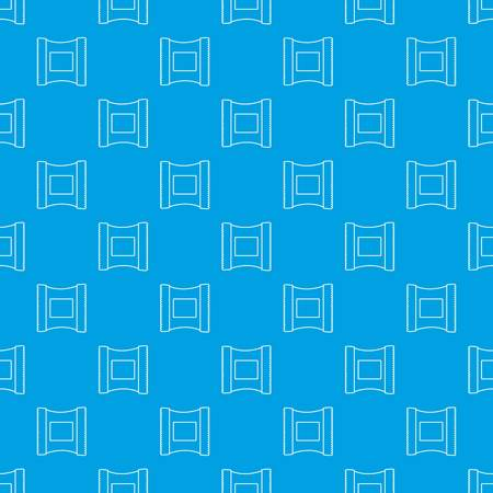 Wet wipes package pattern vector seamless blue repeat for any use