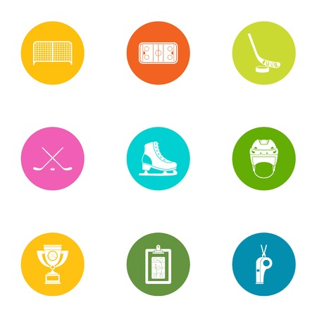 Shock icons set. Flat set of 9 shock vector icons for web isolated on white background