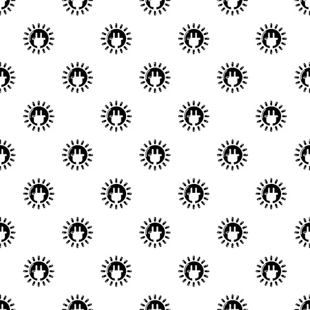 Unplugged electrical plug pattern vector seamless repeating for any web design