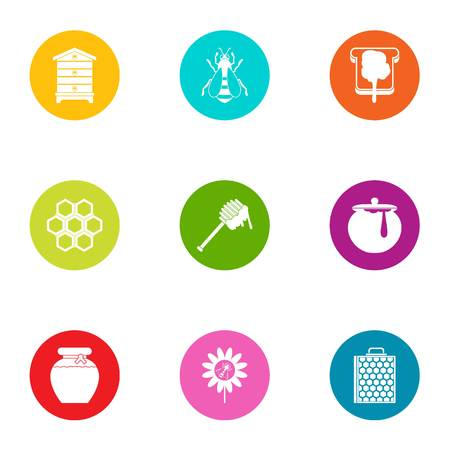 Meadow icons set. Flat set of 9 meadow vector icons for web isolated on white background