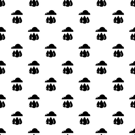 Rain weather pattern vector seamless repeating for any web design