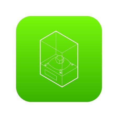 Diamond on a pedestal icon green vector