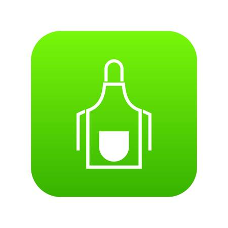 Kitchen apron icon digital green for any design isolated on white vector illustration Illustration