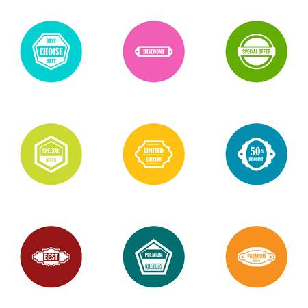 Goodness sale icons set. Flat set of 9 goodness sale vector icons for web isolated on white background