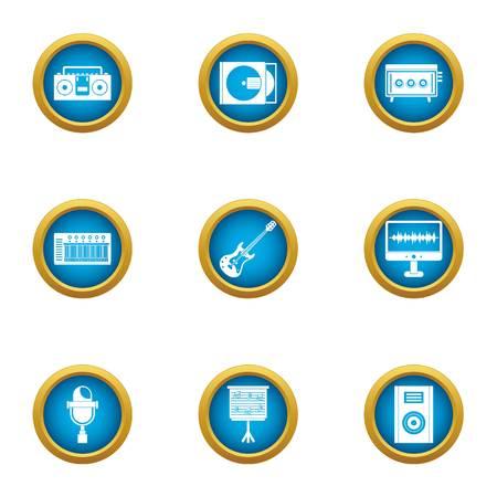 Jeu d'icônes de performance rétro. Ensemble plat de 9 icônes vectorielles de performance rétro pour le web isolé sur fond blanc