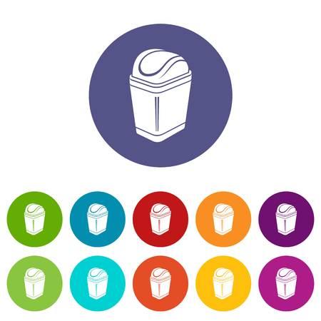 Plastic bin icon, simple style