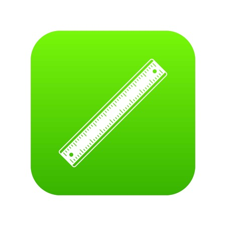 Ruler icon digital green for any design isolated on white vector illustration