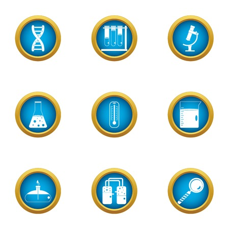 Chemical intervention icons set. Flat set of 9 chemical intervention vector icons for web isolated on white background