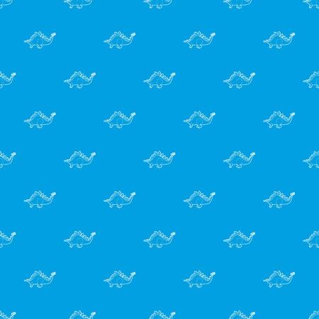 Stegosaurus pattern vector seamless blue
