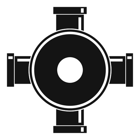 Pipe fitting icon. Simple illustration of pipe fitting icon for web Standard-Bild
