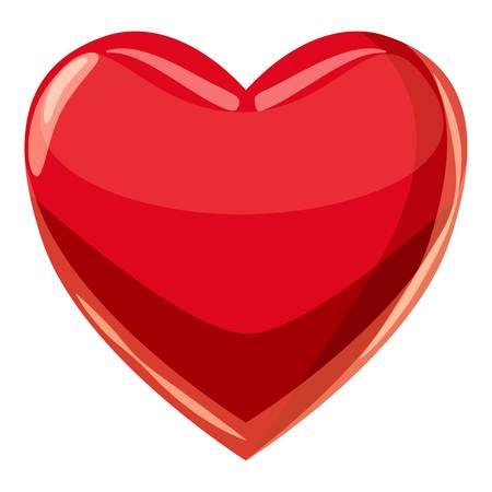 Heart suit plying card icon. Cartoon illustration of heart suit plying card icon for web Stock Photo